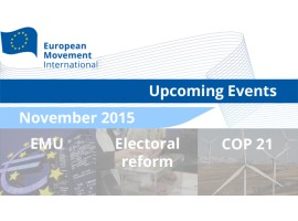 Sign up for European Movement Events this November