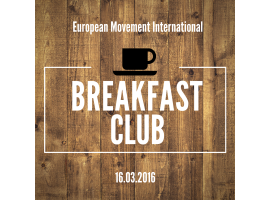 European Movement Breakfast Club with Jean-Pierre Vidal