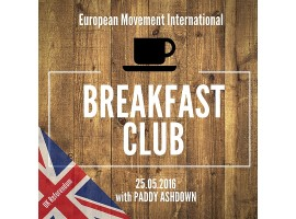 European Movement Breakfast Club with Paddy Ashdown