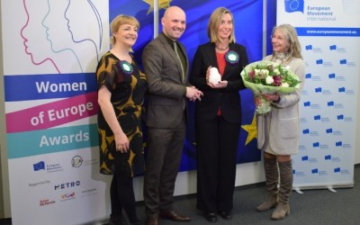 Press Release – The European Movement International gives 'Woman in Power' award to Federica Mogherini on International Women's Day