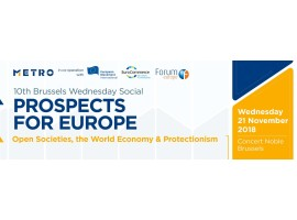 Brussels Wednesday Social – Prospects for Europe