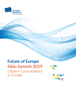 Sibiu Summit 2019 - Citizen Consultations in Europe