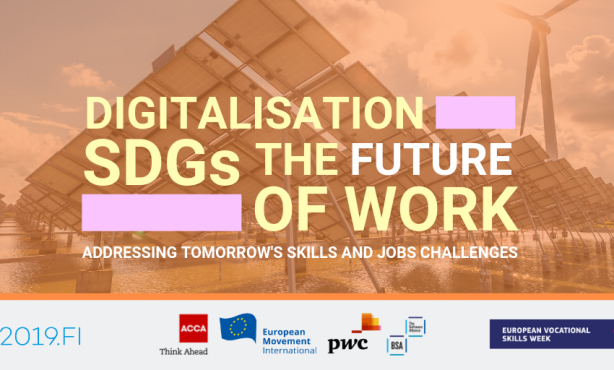 Digitalisation, SDGs & Future of work – Addressing Tomorrow's Skills and Jobs Challenges