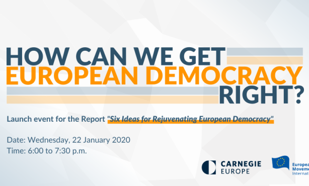How Can We Get European Democracy Right?