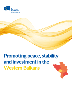 EMI: Promoting peace, stability and investment in the Western Balkans