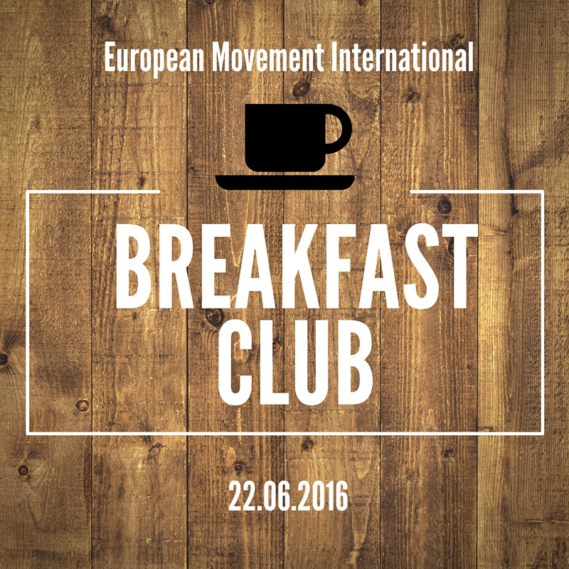 European Movement Breakfast Club with André Gillissen