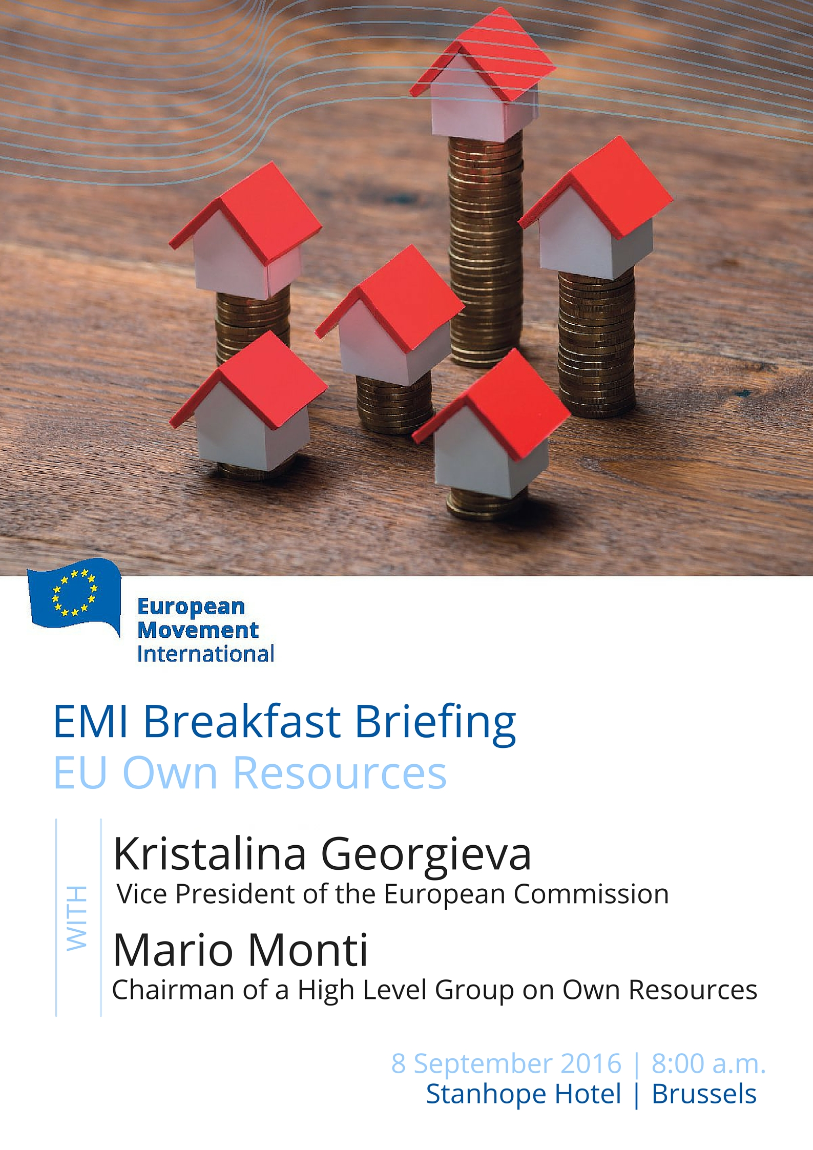 European Movement International Breakfast Briefing with Kristalina Georgieva and Mario Monti