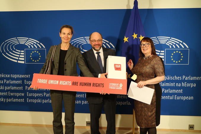 ETUC: MEPs pledge to promote trade union rights