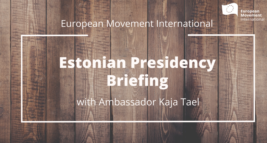 Estonian Presidency Briefing with Ambassador Kaja Tael