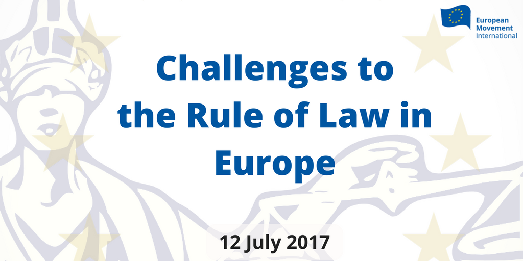 Discussing challenges to the Rule of Law in Europe