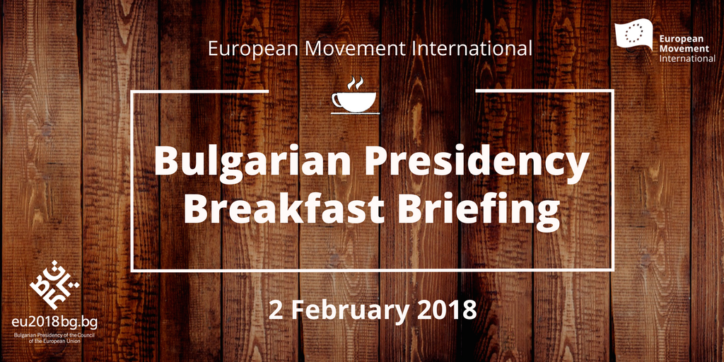 Bulgarian Presidency Breakfast Briefing with Minister Pavlova